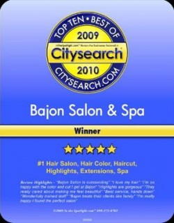 Voted the #1 Hair Salon, Spa and Hair Color in Cincinnati 2009 by CitySearch