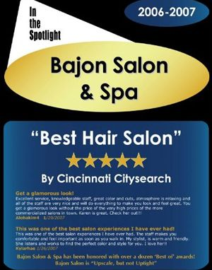 Best Hair Salon in Cincinnati 2007