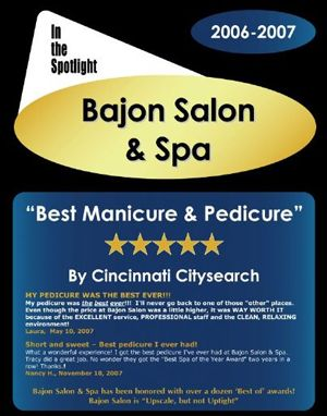 Best Manicure & Pedicure in Cincinnati 2007