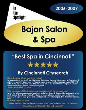 Best Spa In Cincinnati 2007