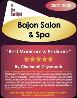 Best Manicure & Pedicure in Cincinnati 2008