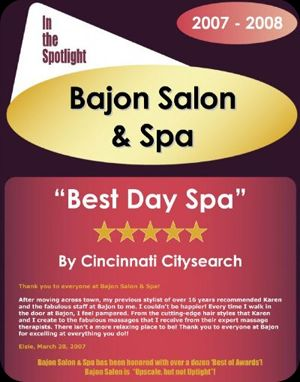 Best Day Spa In Cincinnati 2008