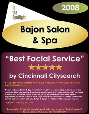 Best Facial Service In Cincinnati 2008