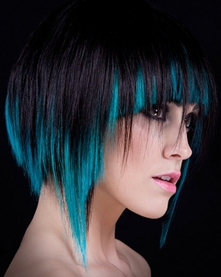 Blue-hair-highlights