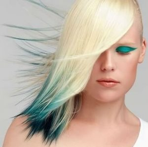 fun color tips are also an option for children over age 12 as the harsh chemicals are kept only in the very ends of the hair and can be easily trimmed - Color Tips Of Hair