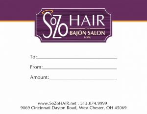 Valentines Day Gift Certificates Archives Sozo Hair