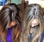 hair touch up highlights
