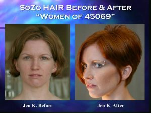 SoZo HAIR Before and After Happy Client Jen