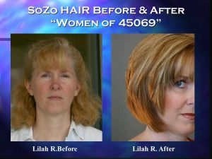 SoZo HAIR Before and After Happy Client Lilah