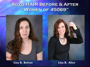 SoZo HAIR Before and After Happy Client Lisa