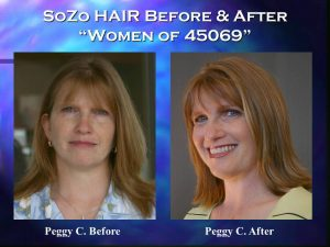 SoZo HAIR Before and After Happy Client Peggy