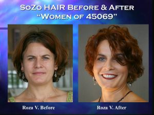 SoZo HAIR Before and After Happy Client Roza