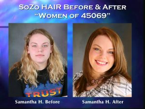 SoZo HAIR Before and After Happy Client Samantha