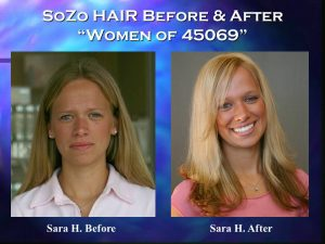 SoZo HAIR Before and After Happy Client Sara