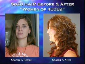 SoZo HAIR Before and After Happy Client Sharon