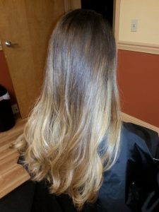Beautiful Ombre Color is the art of foiling hair!