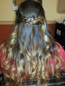 Braids and Ombre Color is the art of foiling hair!