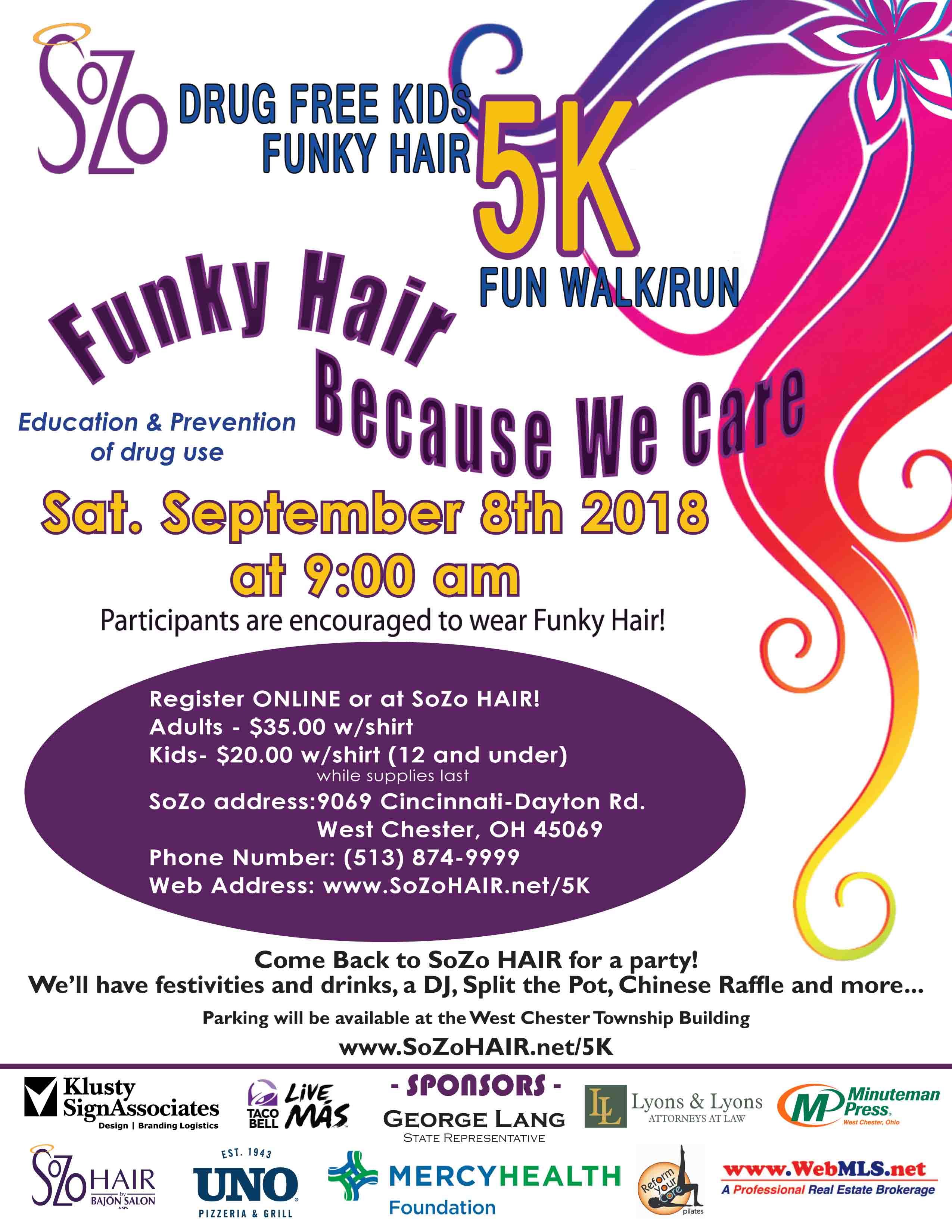 2018 Funky Hair Fundraiser